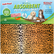Cheetah Pet Bowl Mat
