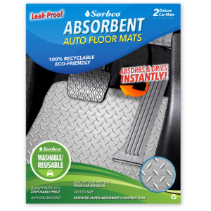 Absorbent Steel Grid Auto Floor Mat